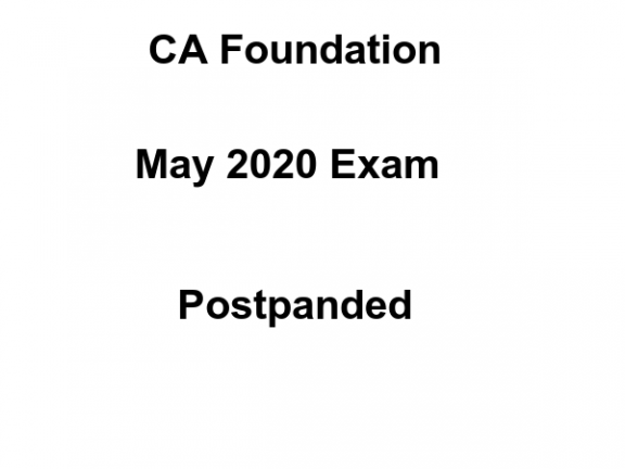 CA Foundation Exam Postpanded